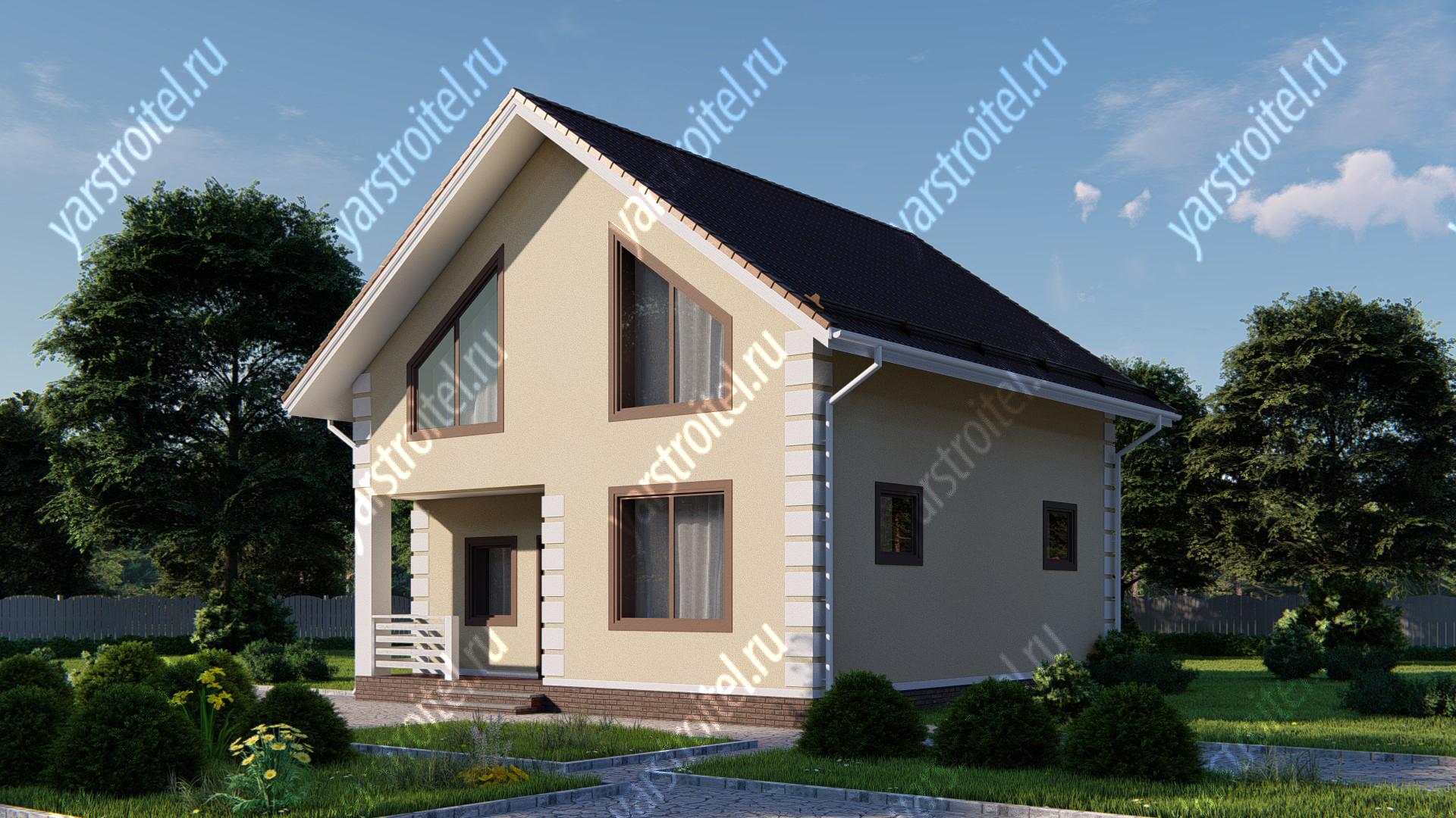 Фотография улучшенного проекта частного дома